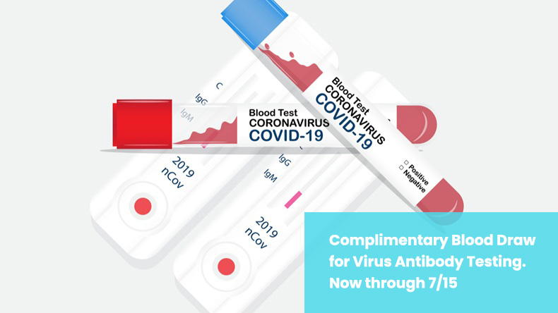 Free Blood Draw for COVID-19 Antibody Testing for Eligible Patients